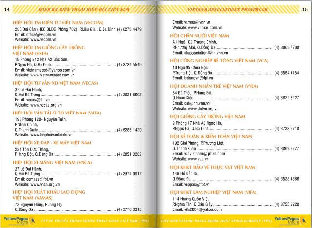 Danh sách các hiệp hội ở Việt Nam 7
