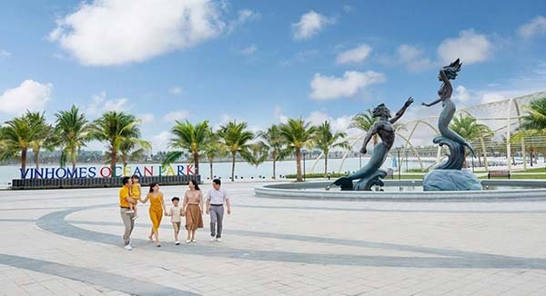 Bãi biển nhân tạo Vinhomes Ocean Park