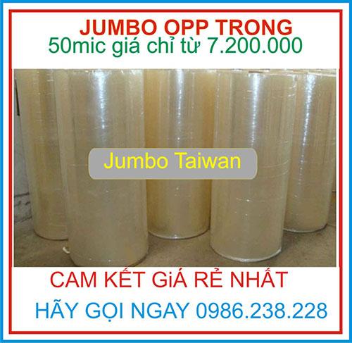 BĂNG KEO JUMBO 50 MIC TRONG