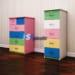 Mẫu tủ nhựa Đài Loan Trẻ Em cao cấp SHplastic 5 tầng 5 ngăn kéo